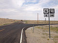 2014-07-17 13 54 34 View east along U.S. Route 6 at the junction with Nevada State Route 375 about 51.0 miles east of the Esmeralda County Line in Warm Springs, Nevada.JPG
