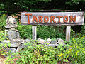 2014-08-28 12 12 42 Sign for Taborton along Taborton Road (Rensselaer County Route 42) about 3.4 miles east of New York State Routes 43 and 66 in Sand Lake, New York.JPG