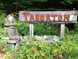 Taborton, New York - Image: 2014 08 28 12 12 42 Sign for Taborton along Taborton Road (Rensselaer County Route 42) about 3.4 miles east of New York State Routes 43 and 66 in Sand Lake, New York