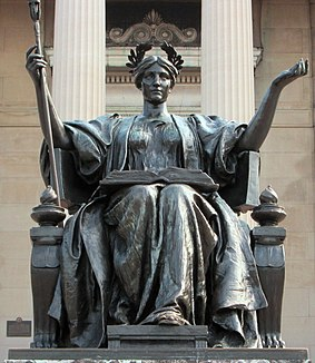 <i>Alma Mater</i> (New York sculpture) sculpture by Daniel Chester French