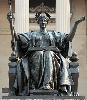 Alma Mater (New York sculpture) - Image: 2014 Columbia University Alma Mater closeup