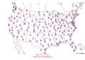 2015-10-14 Max-min Temperature Map NOAA.png