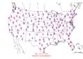 2015-10-23 Max-min Temperature Map NOAA.png