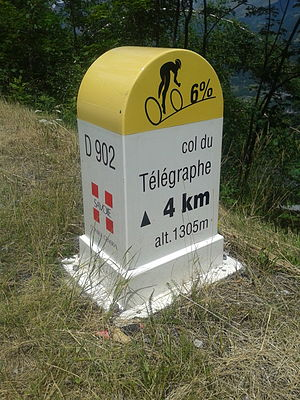 Col du Télégraphe - One of the mountain pass cycling milestones along the climb from Saint-Michel-de-Maurienne