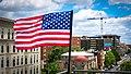 2017.07.02 Rainbow and US Flags Flying Washington, DC USA 7207 (34831758414).jpg