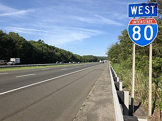 Mount Arlington, New Jersey - I-80 westbound in Mount Arlington