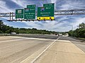 2019-05-21 11 56 15 View north along Interstate 97 (Glen Burnie Bypass) at Exit 17A (Interstate 695 WEST, Baltimore, Towson) in Ferndale, Anne Arundel County, Maryland.jpg