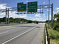 2019-06-14 13 15 20 View south along the Inner Loop of the Baltimore Beltway (Interstate 695) at Exit 36 (Maryland State Route 702 SOUTH, Essex) on the edge of Rosedale and Middle River in Baltimore County, Maryland.jpg