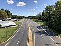 2019-08-25 10 57 44 View north along U.S. Route 1 (Washington Boulevard) from the overpass for the ramp from southbound Interstate 895 to southbound U.S. Route 1 in Arbutus, Baltimore County, Maryland.jpg