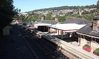 Matlock railway station Railway station in Derbyshire, England
