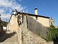 221 Mas Vell (Premià de Dalt), torrent del Fondo 24, amb el campanar de Sant Pere al fons.jpg