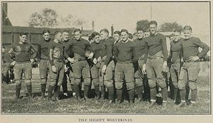 1922 Michigan Wolverines football team - The Wolverines in Nashville.