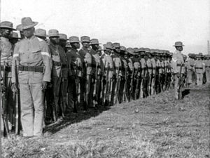 24th Infantry Regiment (United States) - The 24th U.S. Infantry at drill, Camp Walker, Philippine Islands 1902