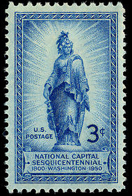 File:3-cent Statue of Freedom 1950 U.S. stamp.tiff