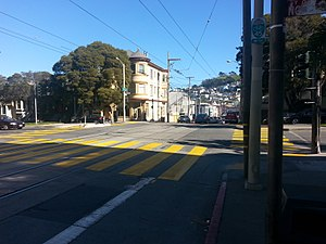 30th Street and Dolores station - 30th and Dolores Street station on Muni's J Church line