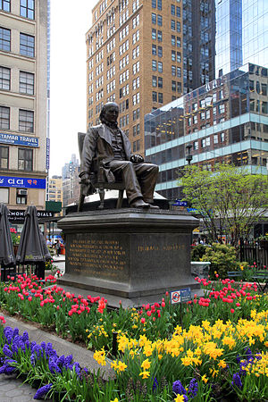 Horace Greeley (Doyle) - The sculpture in 2013