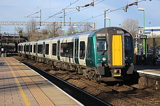 British Rail Class 350 Electric train in Great Britain