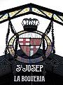 395 Mercat de Sant Josep (la Boqueria), rètol i escut.JPG