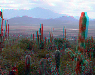 Anaglyph 3D - Image: 3D dusk on Desert