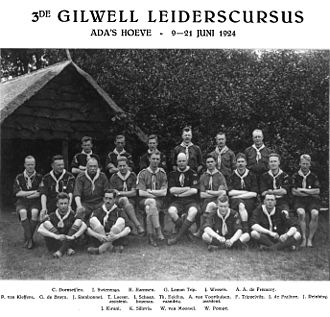 Jean Jacques Rambonnet - Group picture of the Wood Badge training of Rambonnet