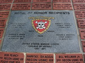 Richard A. Anderson - 3rd Reconnaissance Medal of Honor Monument Ocala, Florida Memorial Park