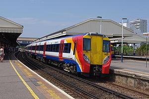 British Rail Class 458 - Pre conversion Class 458/0 No. 458030 at Clapham Junction