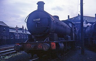NER Class T2 - Image: 63407 at West Hartlepool shed
