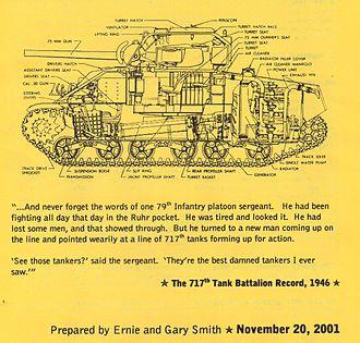 717th Tank Battalion - Image: 717th tank pic