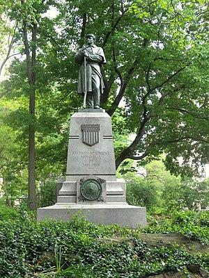 Seventh Regiment Memorial - The sculpture in 2011