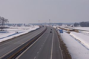 A2 autostrada (Poland) - A2 near Kleszczewo (east of Poznań), opened in 2003