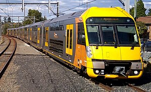 Urban rail transit - A Sydney Trains A set. Sydney Trains, which shares characteristics with rapid transit, operates a large network throughout Sydney.
