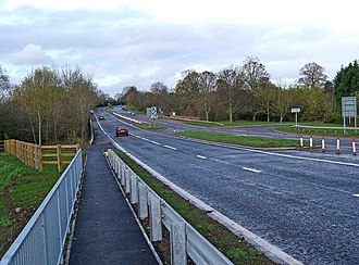 A449 road - Image: A449 road from Worcester to Kidderminster geograph.org.uk 1589857