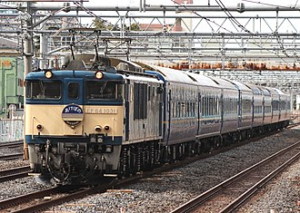 Akebono (train) - Image: AKEBONO EF64 1031 20130303