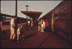 Broadway Limited - The Broadway Limited at Fort Wayne, Indiana in 1974.
