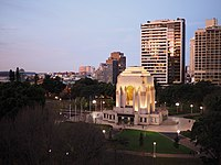 The ANZAC Memorial in Sydney at dusk