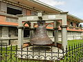 A bell outside the Church of Pan-Ay.JPG
