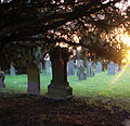 A churchyard sunset at St Bartholomew', Eastoft, Lincolnshire 01.JPG