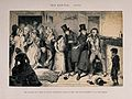 A drunken man is arrested for killing his wife. Etching by G Wellcome V0019407.jpg