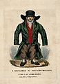 A man who has lost weight due to cholera; his clothes are no Wellcome V0010886.jpg