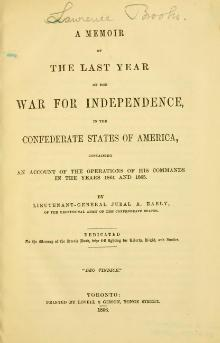 A memoir of the last year of the War of Independence, in the Confederate States of America.djvu