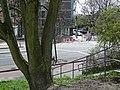 A photo of a urban tree and a view over de Zeeburgerdijk and Celebesstraat; Amsterdam Oost- FotoDutch, April 2013.jpg