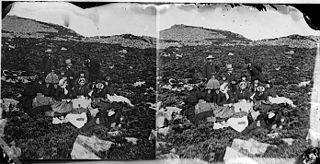 A picnic on the mountain (stereograph)