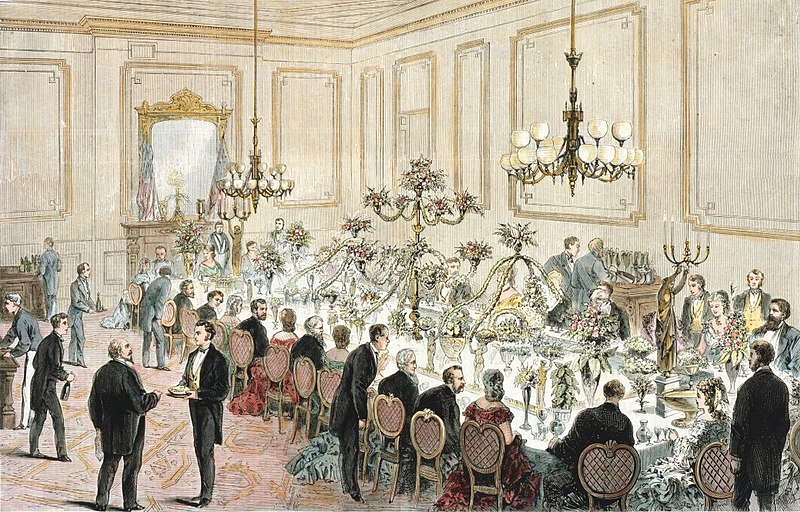 File:A state dinner at the White House in 1871.jpg