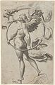 A winged figure of Fame standing facing left and sounding a trumpet MET DP836928.jpg