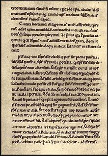 Abaelard, Apologia contra Bernardum, Seite aus Clm. 28363 (12. Jahrhundert) (Quelle: Wikimedia)