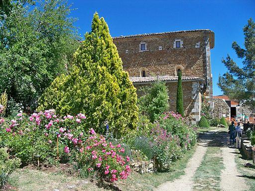 vue des jardins de l'abbaye de Valsainte