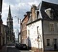 Abbeville rue de l'Eauette et église St-Jacques 1b.jpg