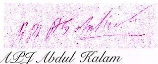A. P. J. Abdul Kalam's signature