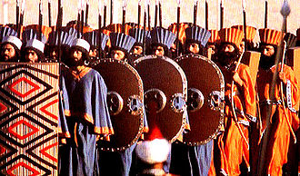 Immortals (Achaemenid Empire) - Modern reconstruction of the Immortals in their ceremonial dress at the 2,500 year celebration of the Persian Empire.