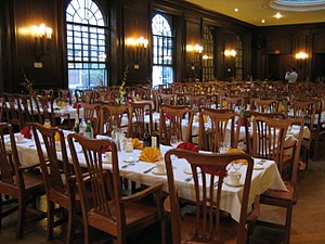 Adams House (Harvard College) - The Adams House dining hall